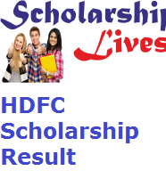 HDFC Scholarship Result
