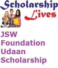 JSW Foundation Udaan Scholarship