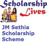 JM Sethia Scholarship Scheme