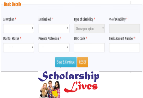 National Scholarship Portal Application Form