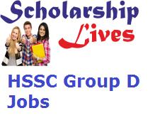 HSSC Group D Jobs