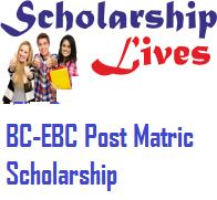 BC-EBC Post Matric Scholarship